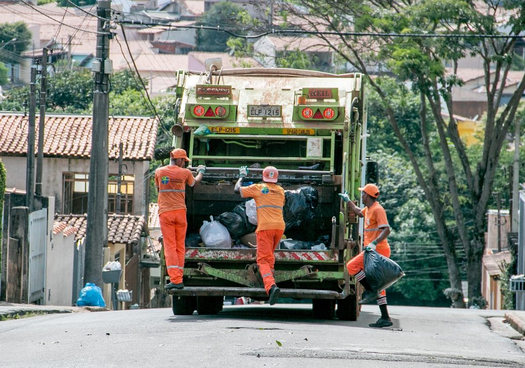 trash, street-sweeper, collection